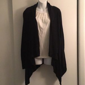 Merona XXL Black high low cardigan